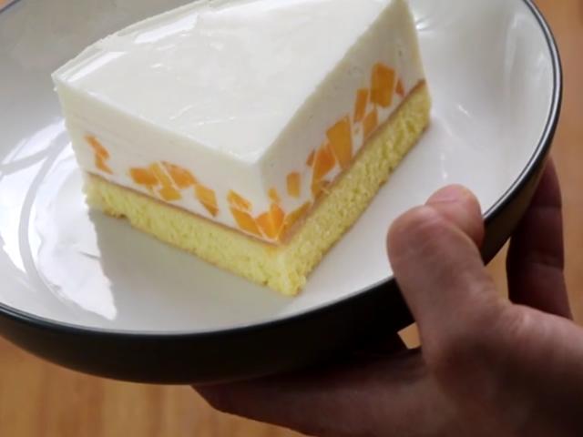 牛奶慕斯蛋糕做法原来这么简单,口感细腻香浓入口即化,值得收藏