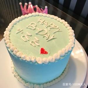 看着很舒服的小清新生日蛋糕的做法