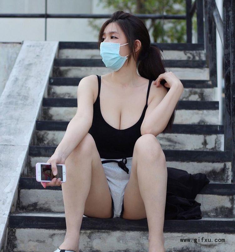大胸口罩妹DJ Mika生活写真照片,粉嫩小女生也可以很性感