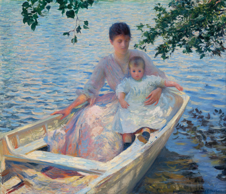 Mother and Child in a Boat, 1892 - Edmund Charles Tarbell