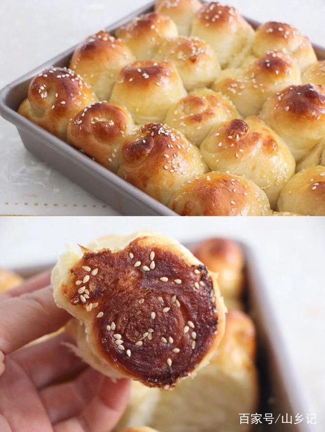 超好吃的蜂蜜脆底小面包,这样做超级简单