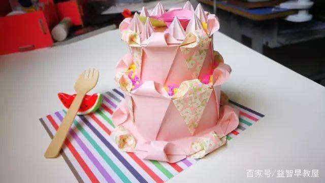 手工折纸蛋糕:6分钟就能学会用卡纸做生日蛋糕
