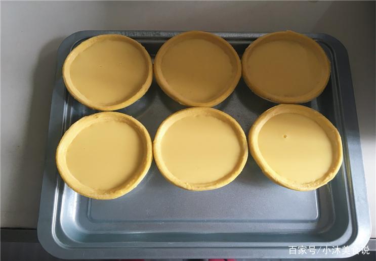 10分钟教你做蛋挞,外皮酥松内陷嫩滑,家人全都抢着吃