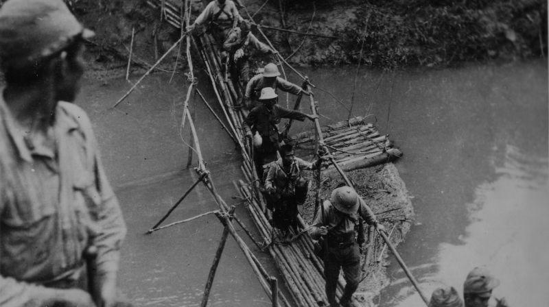 骑大象赶牛车看卧佛,二战缅甸日军老照片