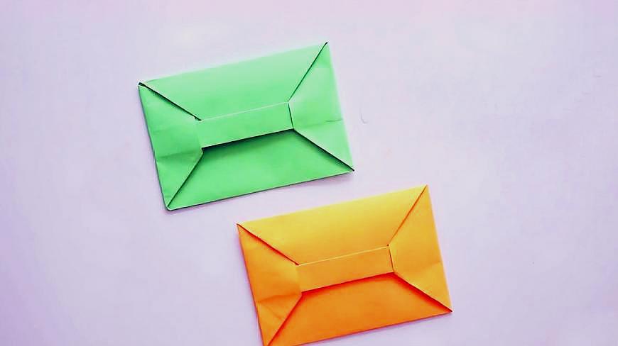 手工摺紙DIY,教你折一個信封,信封的摺紙方法