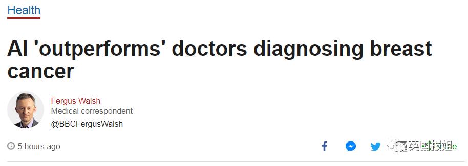 中国女性最高发的癌症 人工智能的诊断已经碾压人类医生了?