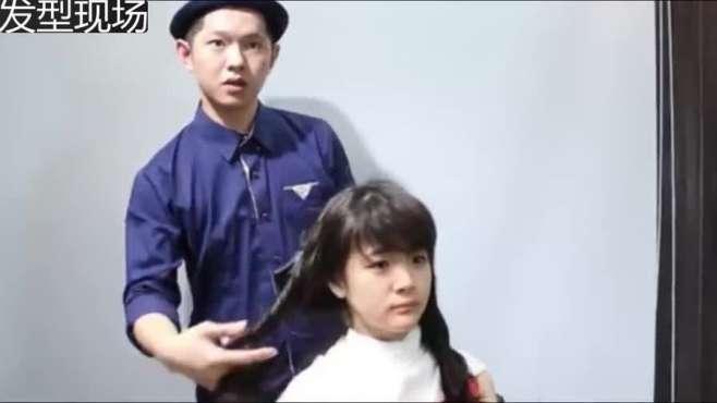 妹子烫完发型不会打理,发型师手把手教你手绕式吹整理卷发