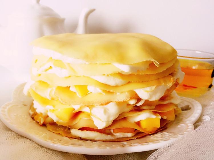 夏天做千层蛋糕,不用烤箱,一口锅就能做,做法简单,营养美味!