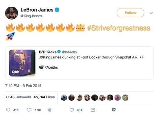 Snapchat AR视频走红 让你切身体验NBA巨星的风采 AR资讯 第2张