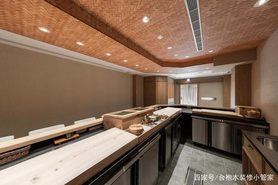 装修公司案例|中古屋改造日式和风料理店,给你深刻的味蕾飨宴!