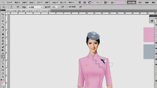 空姐连衣裙设计-设计师LILY-米兰弘服装