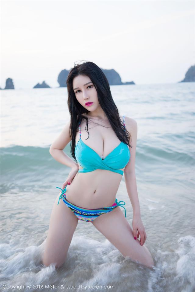 [魅妍社] 丰满大胸比基尼美女于姬Una海边写真摄影 Vol