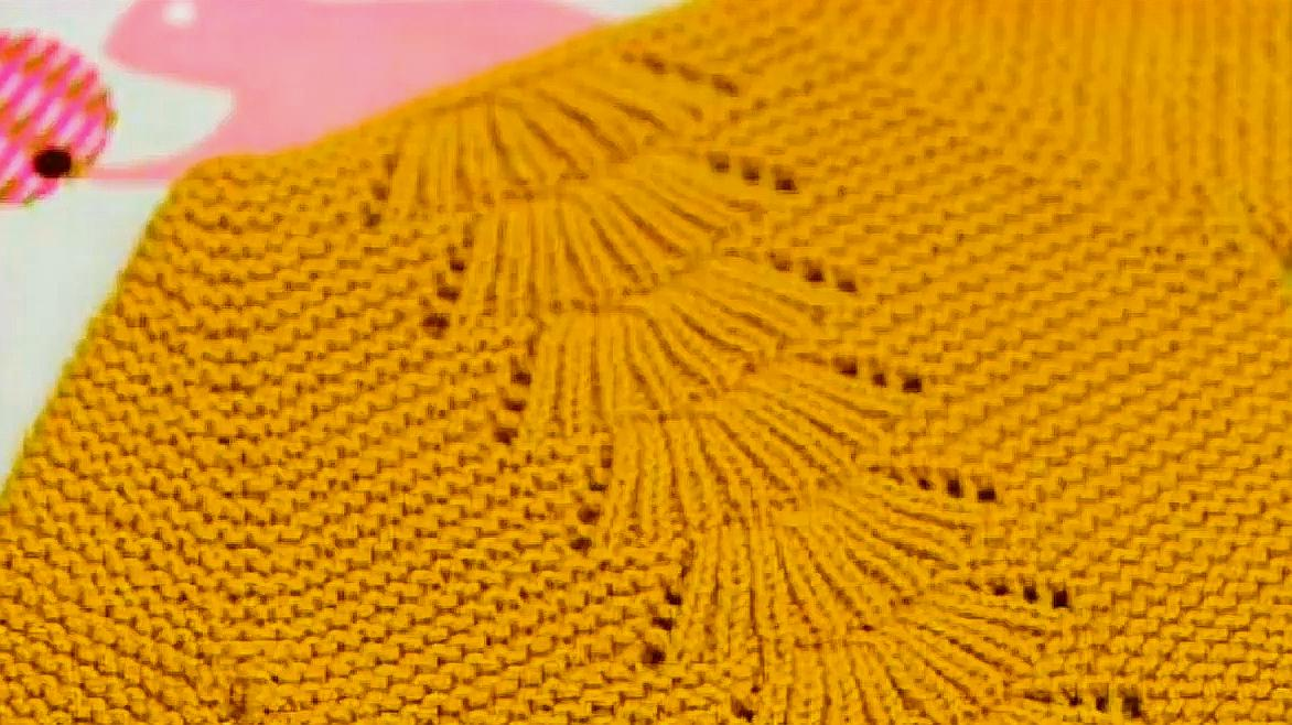 兒童毛衣胸口、背部新式花樣棒針編織,特別新穎帥氣
