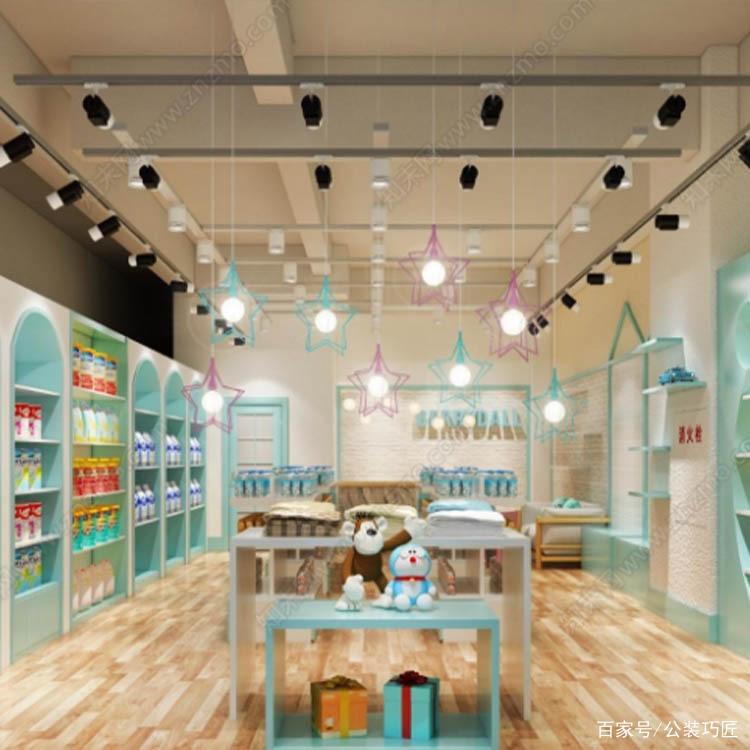 杭州童装店装修预算表|优秀童装店铺装潢经典案例|商铺设计规划图