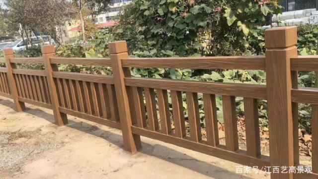 景区楼梯型仿木栏杆