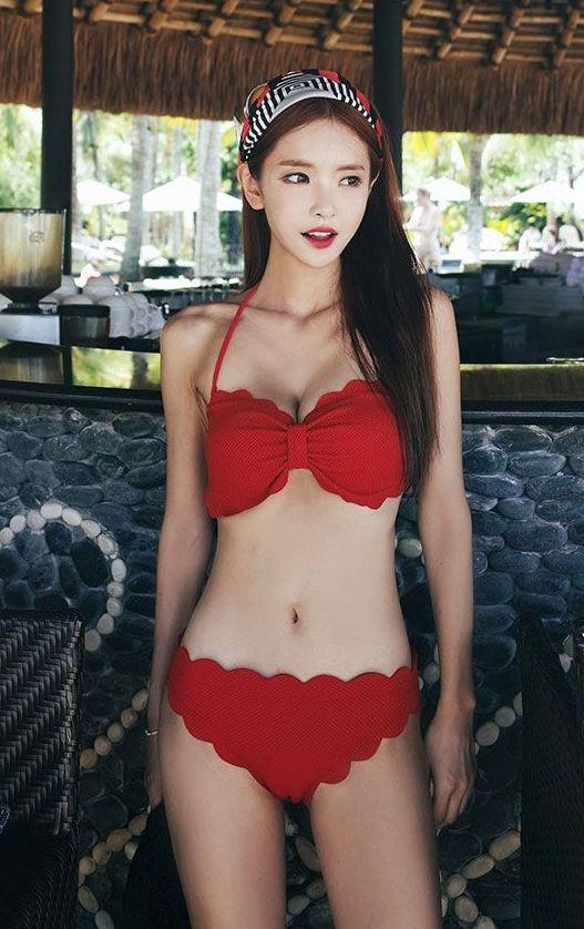 韩国黄金比例泳装美女比基尼美图集合\朴恩琦泳装比基尼\db-