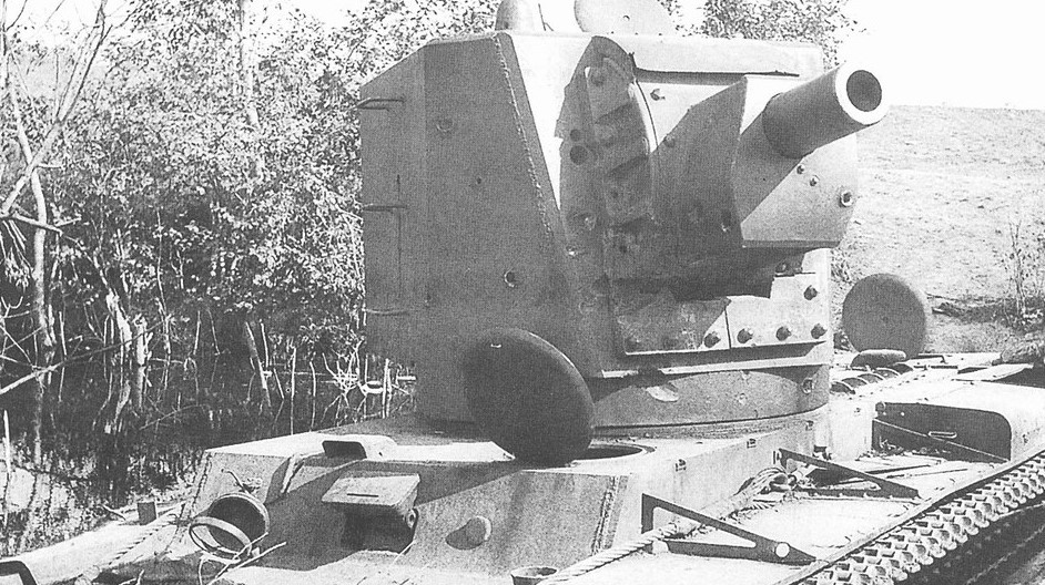 落魄的神教,苏德战场上KV2重型坦克残骸惨状