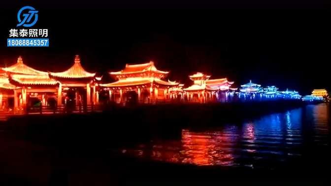 夜景亮化_陕西集泰照明亮化工程,广济桥