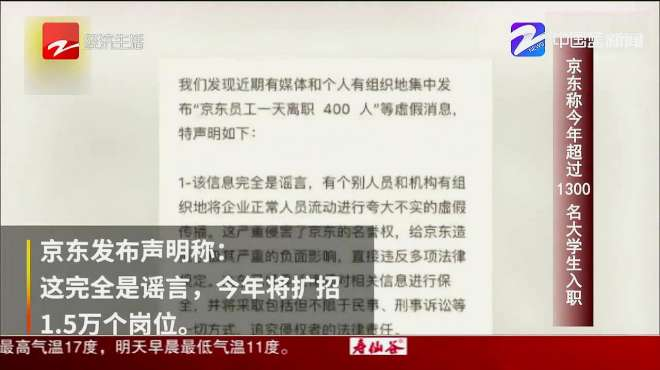 朋友圈热搜:京东称今年超过1300名大学生入职