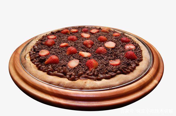 巧克力披萨做法培训过程分享