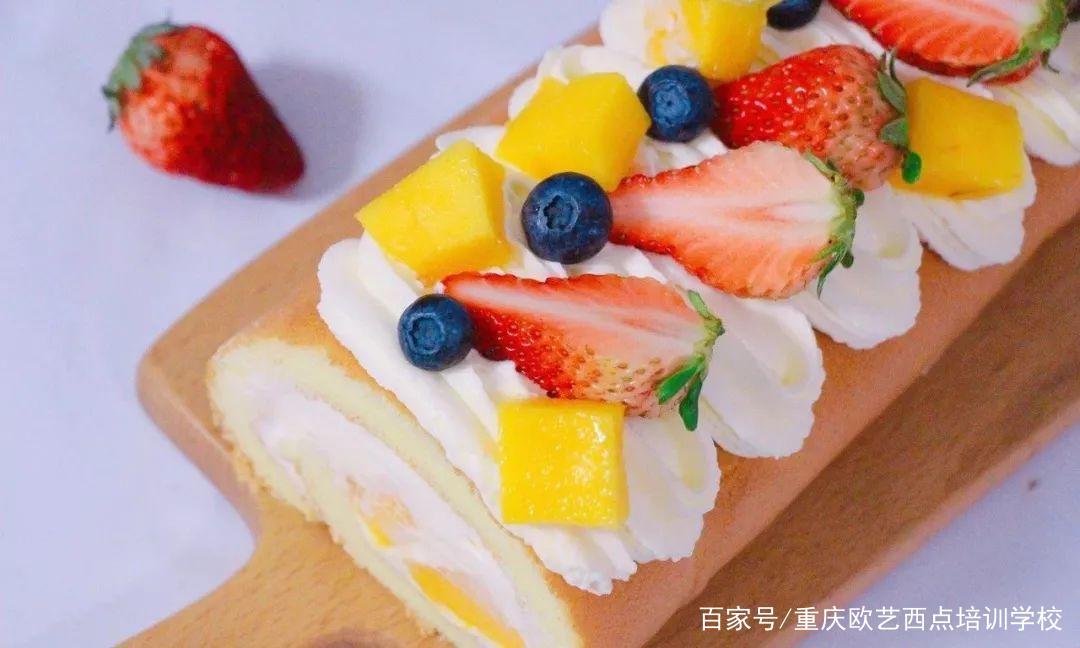 一次成功的缤纷水果蛋糕卷,征服你的少女心