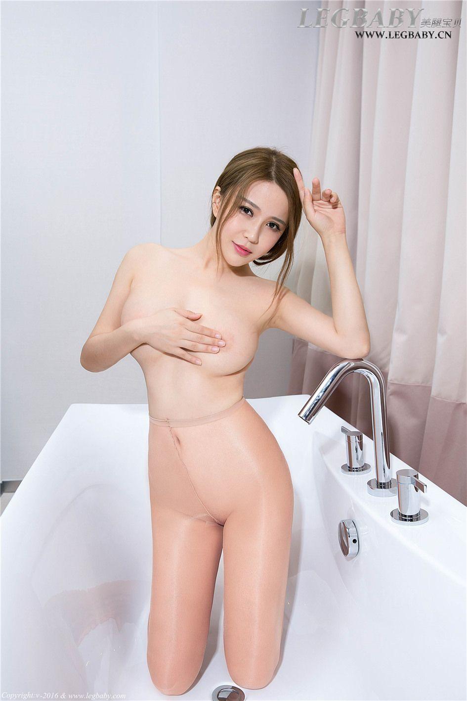 [美腿宝贝] 90后性感丝袜美女若兮浴室  NO.013 美