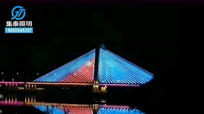集泰照明点光源广西防城港针鱼岭大桥梁亮化工程
