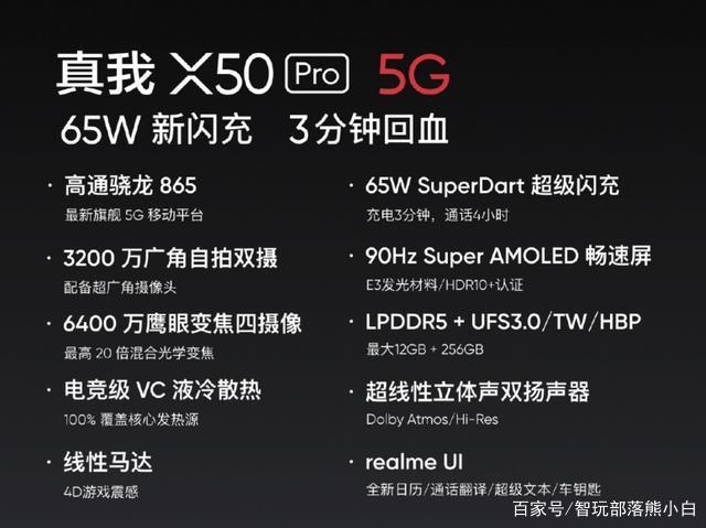 realme真我X50 Pro国行版发布:65W闪充,充电3分钟能扛一小时!