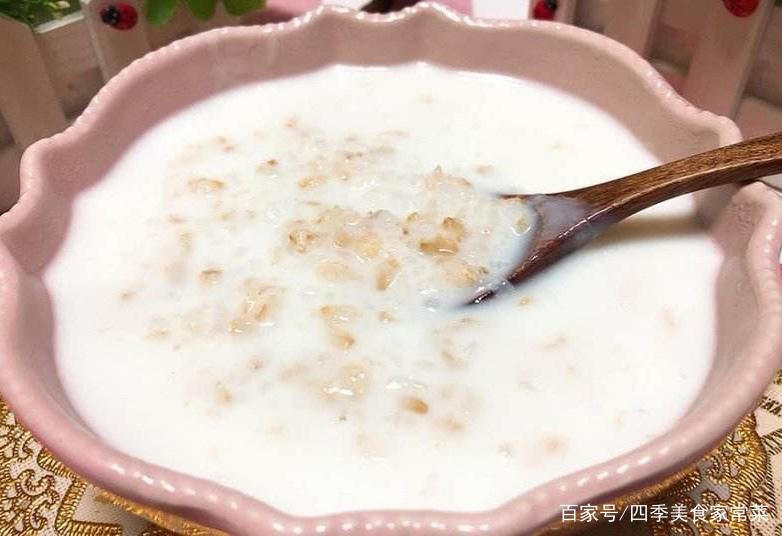 牛奶燕麦粥的家常做法此粥含有非常丰富的营养成分