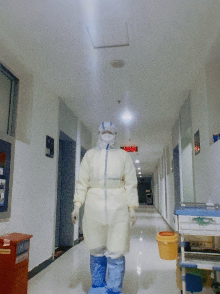 在湖北抗疫一线工作的护士章璺澹。