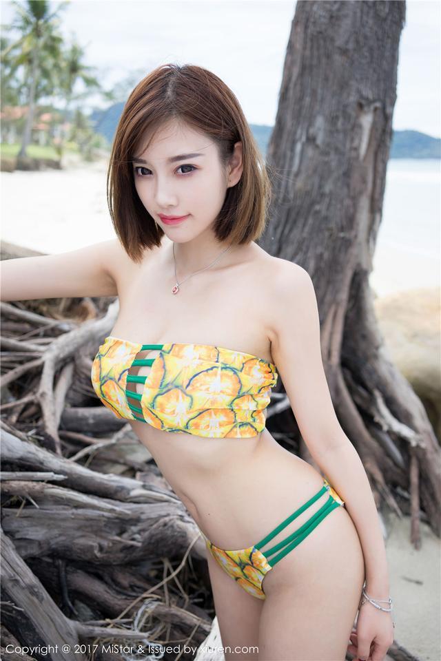 [魅妍社] 墨镜气质美女杨晨晨sugar外景高清写真图片 V