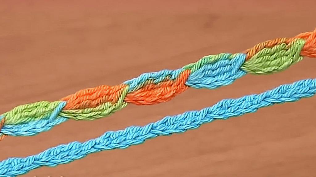 鉤針在手花帶不愁,一款簡單漂亮的棗花帶教程,可粗可細造型百變