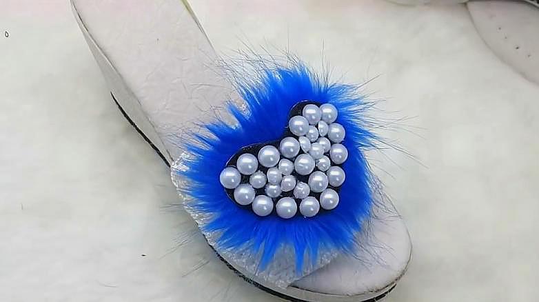鉤針編織漂亮的女士拖鞋鞋面,手工製作毛線拖鞋教程