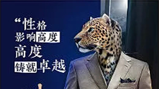 职场动物卡通人物励志宣传海报POP素材赏析