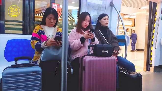 试乘西安咸阳国际机场城际铁路 票价全程16元 到底旅客多不多