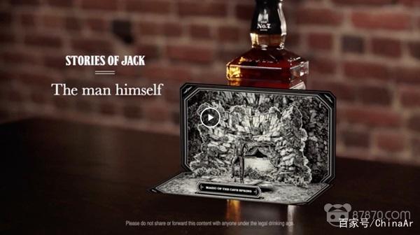 Jack Daniel用AR将威士忌酒瓶变成了故事书 AR资讯 第1张