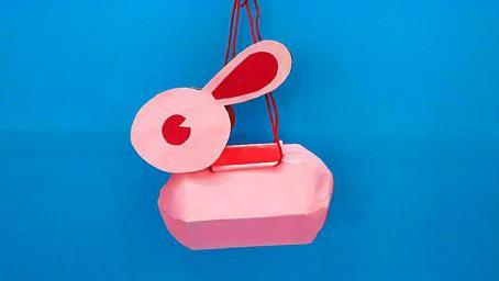 終於研究出立體玉兔燈籠製作方法,材料又簡單,中秋國慶手工摺紙