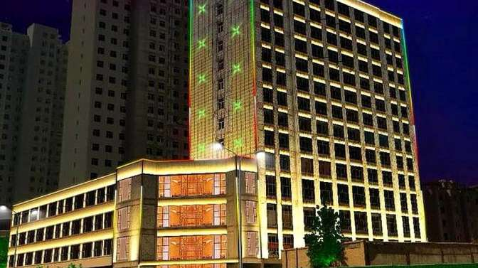 酒店亮化效果图赏析楼体亮化工程