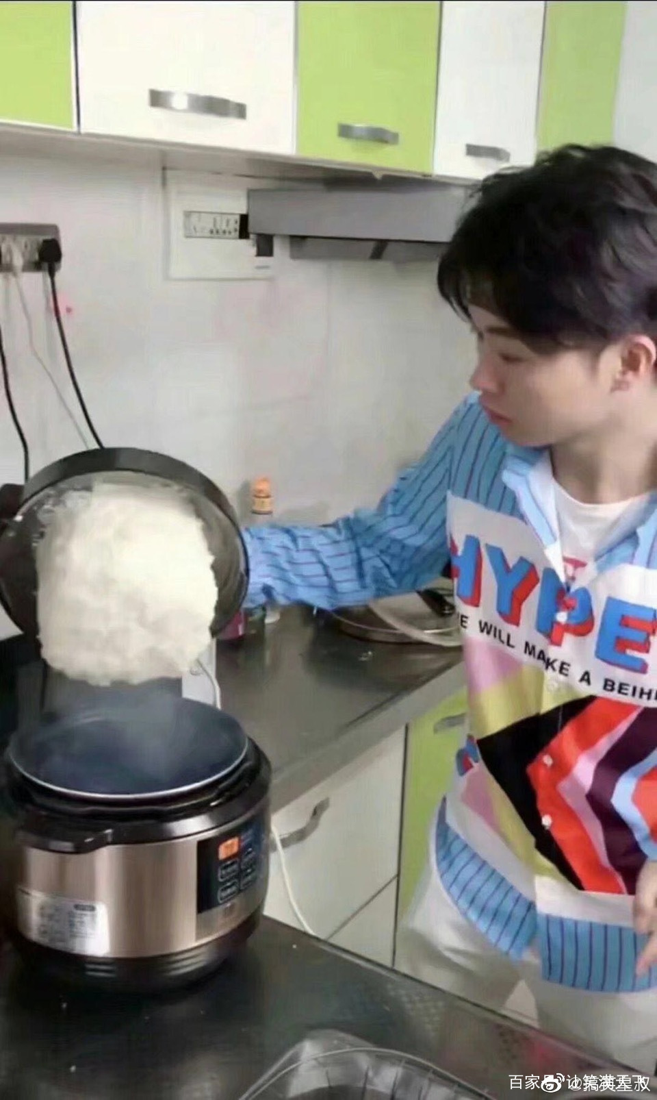 网上买的电饭锅,说是不粘锅