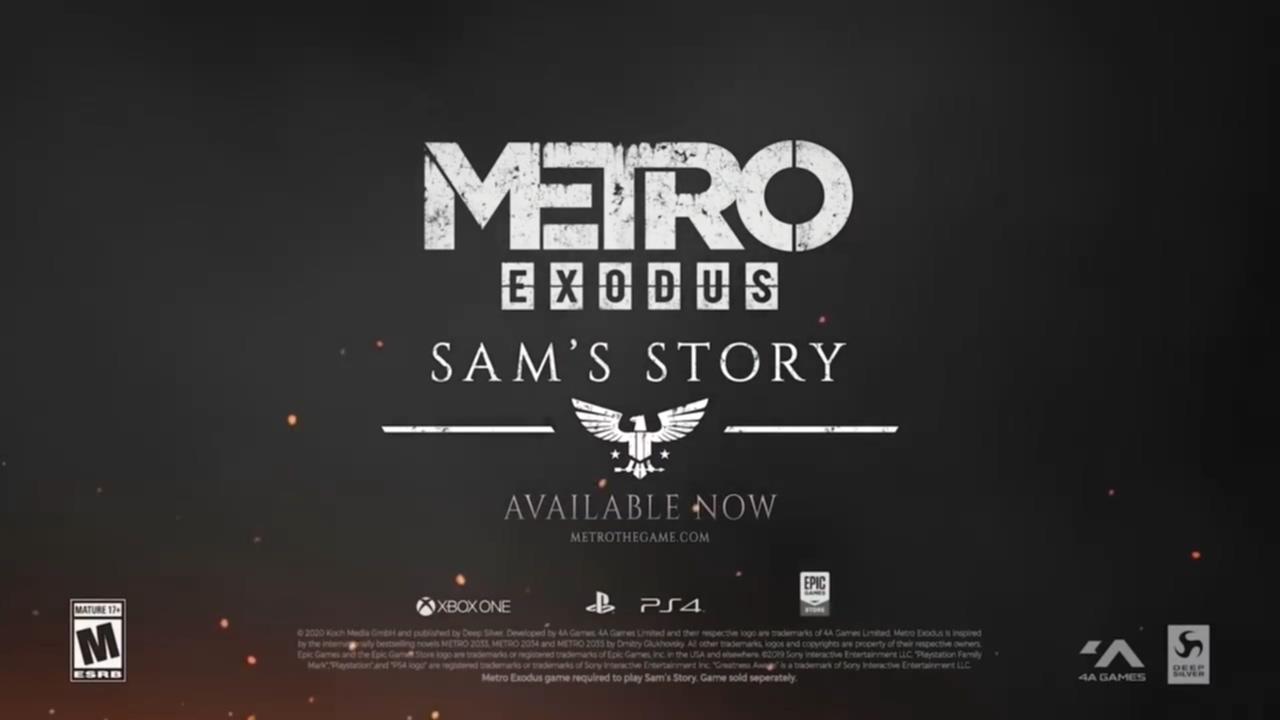 """《地铁:离乡》DLC""""山姆的故事""""上市宣传片公布 Steam 游戏资讯"""