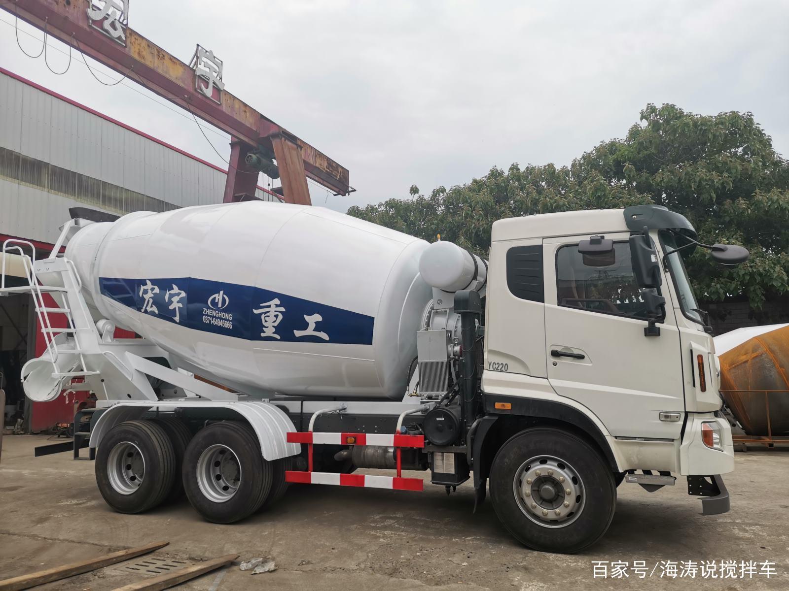郑州宏宇重工搅拌车|小型搅拌车为什么大多都是白色?(图2)