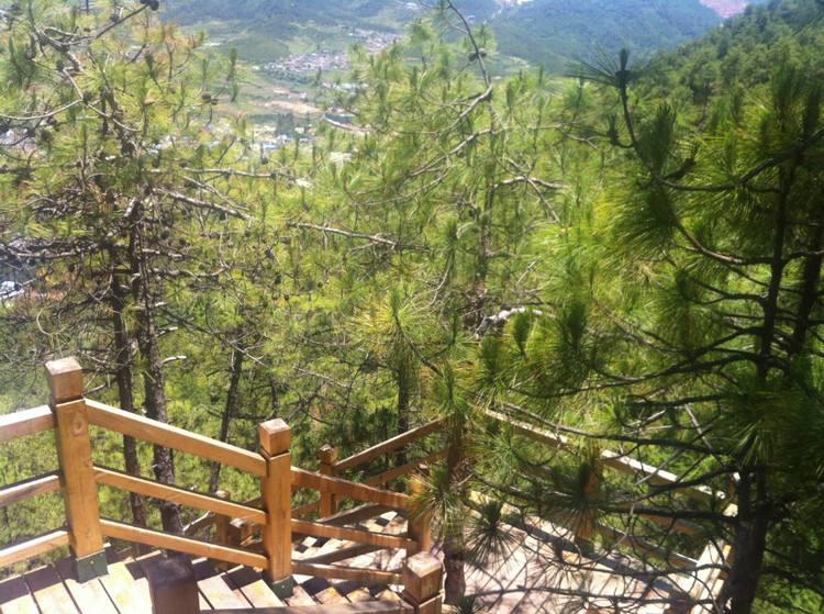 三横梁景区仿木栏杆