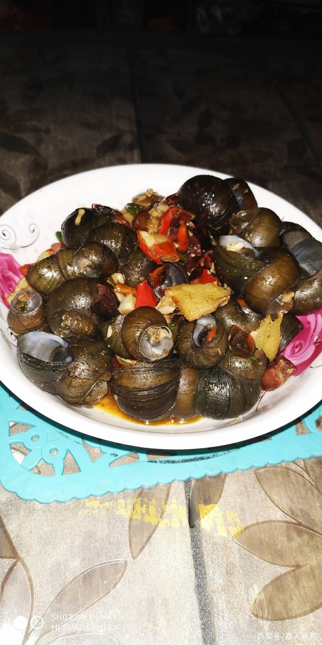 美食菜谱之,家常菜中田螺的做法精选