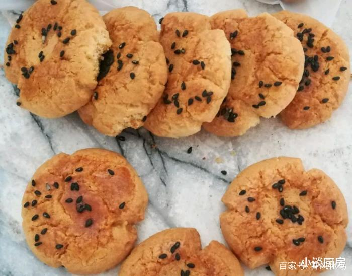 教你做桃酥饼干,酥脆好吃,简单易学