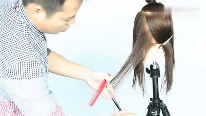 第一款发型修剪视频 低层次长发 雅正美发