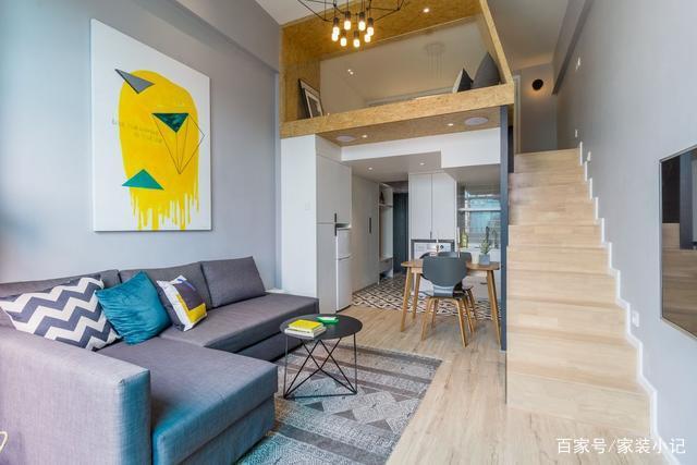 40平loft公寓,装修很精致,进门就是一道风景线,太漂亮了!