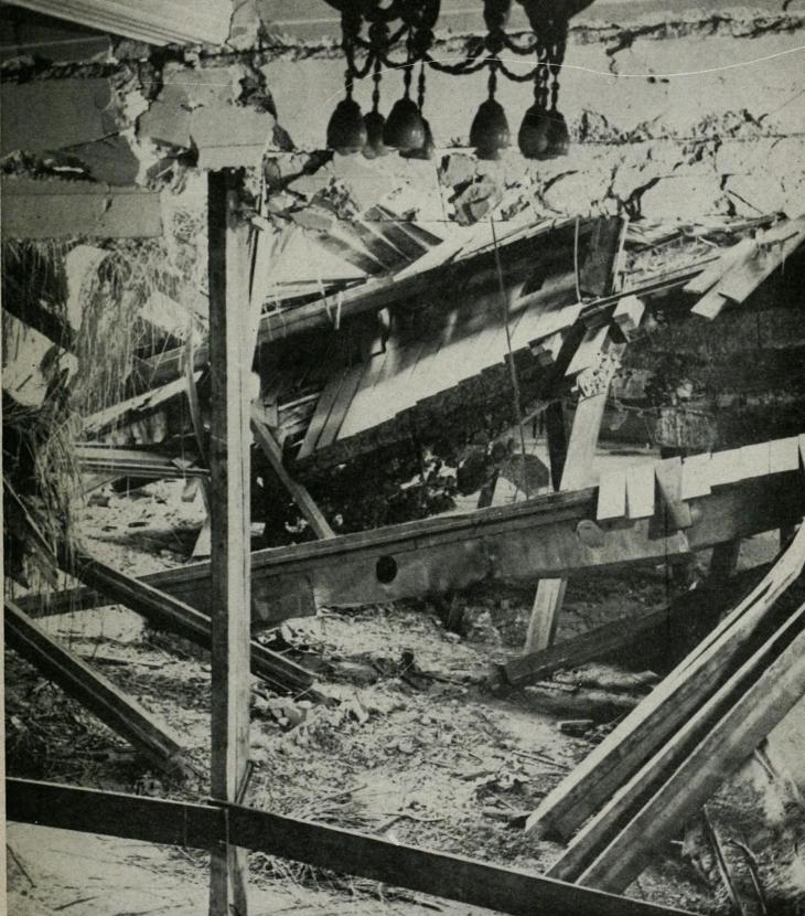 """刺杀希特勒现场:天花板完全炸塌,""""魔头""""走运的提前20分钟离场-"""