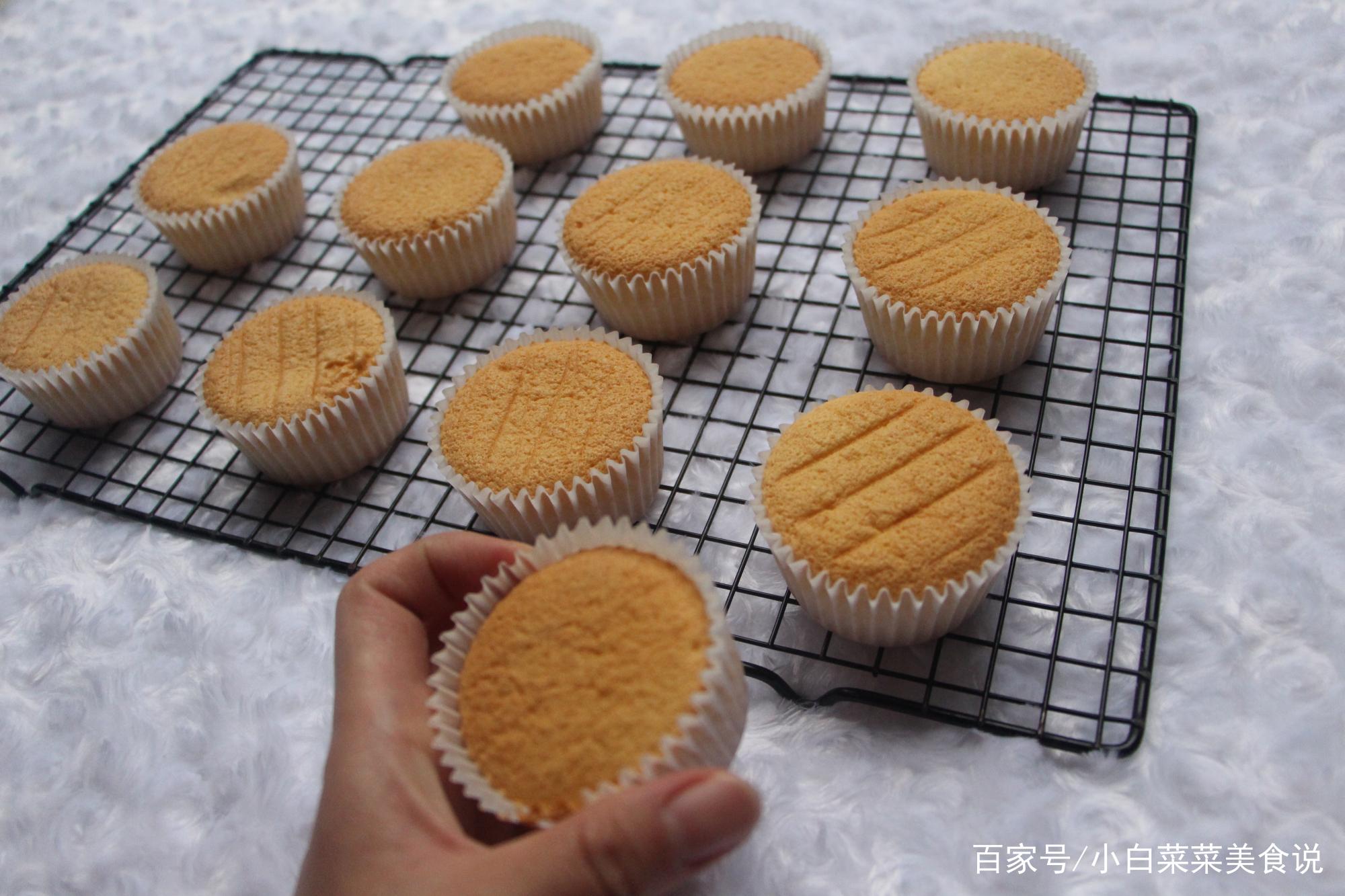 招人喜爱的杯子蛋糕,简单易做的快手海绵蛋糕胚底,清新软绵美味