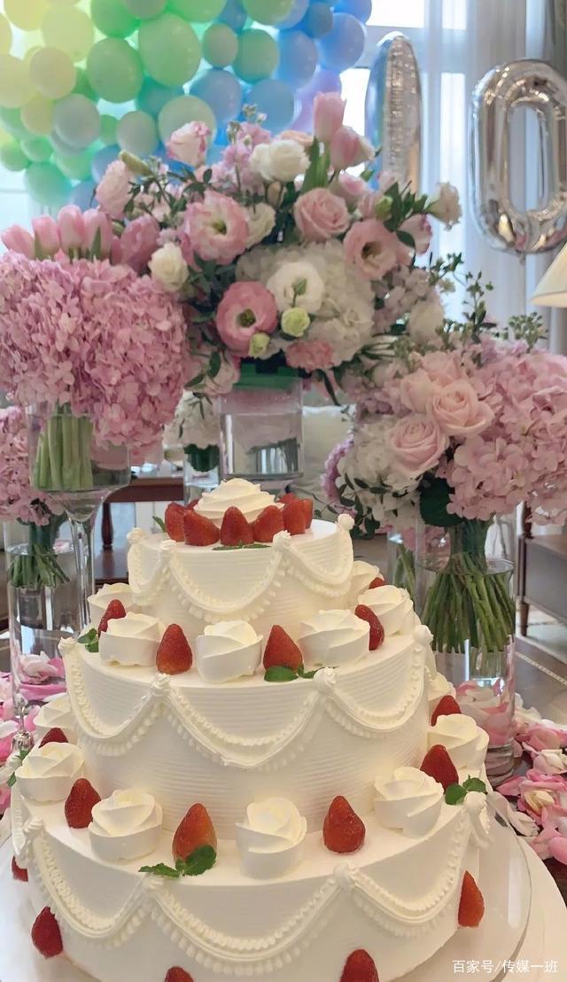 王诗龄10岁生日排场大,粉色花海配三层生日蛋糕,尽显富态