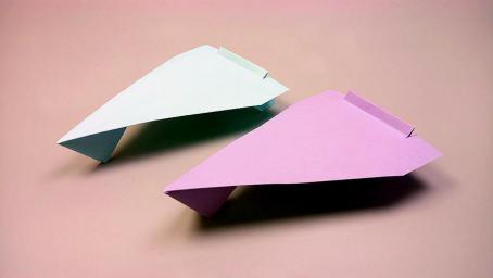 2分鐘教你一架紙飛機,步驟簡單看一遍就會,摺紙視頻教程